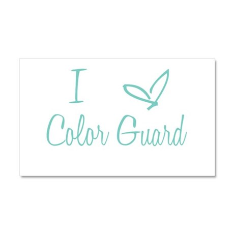 I Love Color Guard in Turquoise Text Car Magnet 20