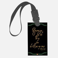 Psalms 16 1 Green Vines Luggage Tag
