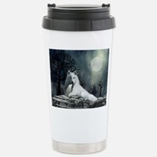 White Wolf and Pup Travel Mug