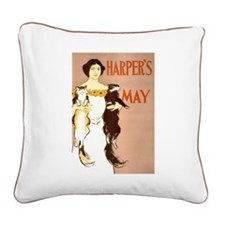 Harpers May Square Canvas Pillow