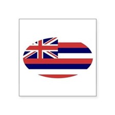 Hawaii Flag Decal Oval Sticker