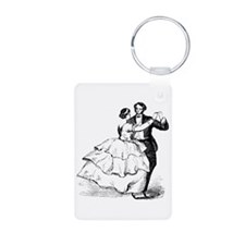 Old-time Ballroom Dancers Aluminum Photo Keychain