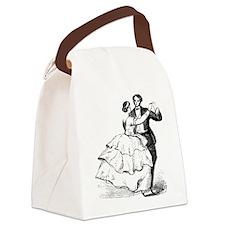 Old-time Ballroom Dancers Canvas Lunch Bag