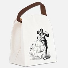 Old-time Ballroom Dancers Canvas Lunch Bag