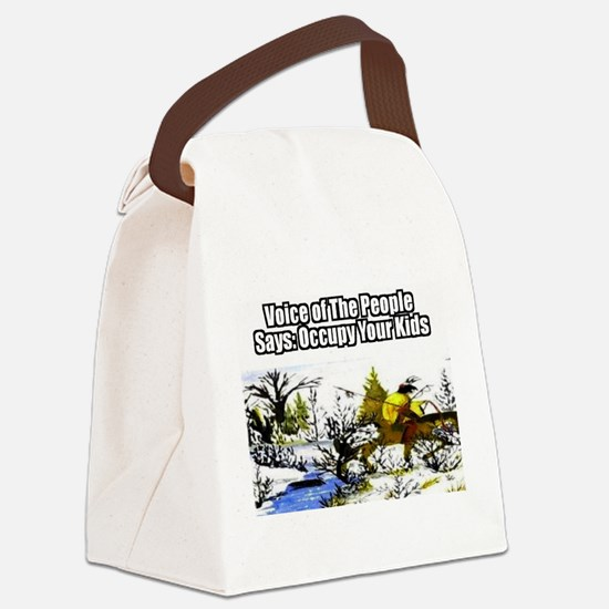 Occupy Your Kids Canvas Lunch Bag