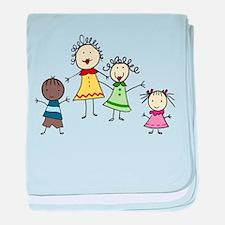 Teacher And Kids baby blanket