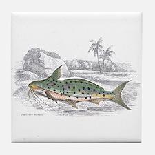 Catfish Fish Tile Coaster