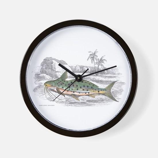 Catfish Fish Wall Clock