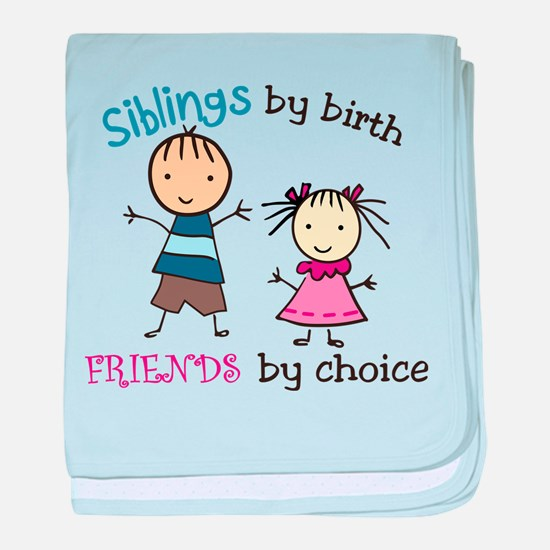 Siblings By Birth baby blanket