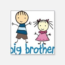"Big Brother Square Sticker 3"" x 3"""