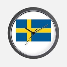 Sweden Flag Picture Wall Clock