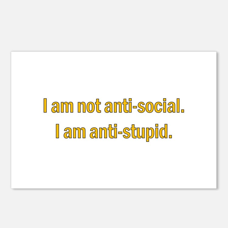 Anti-social Yellow Postcards (Package of 8)