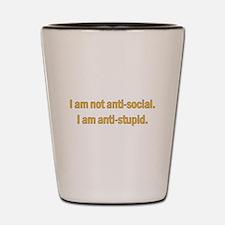 Anti-social Yellow Shot Glass