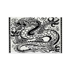 Korean Dragon Rectangle Magnet Magnets