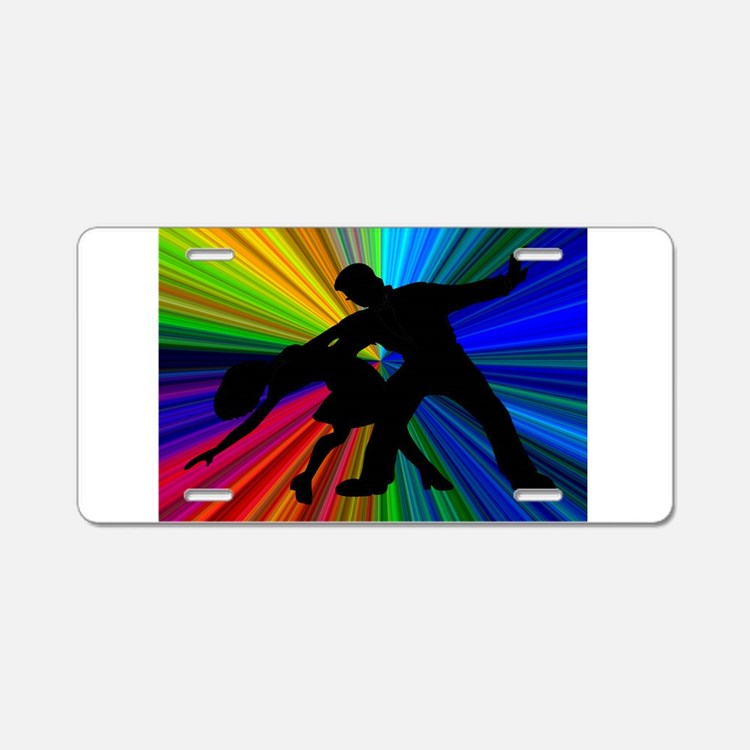 Dazzling Dance Silhouettes Aluminum License Plate