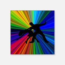 """Dazzling Dance Silhouettes Square Sticker 3"""" x 3"""""""