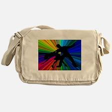 Dazzling Dance Silhouettes Messenger Bag