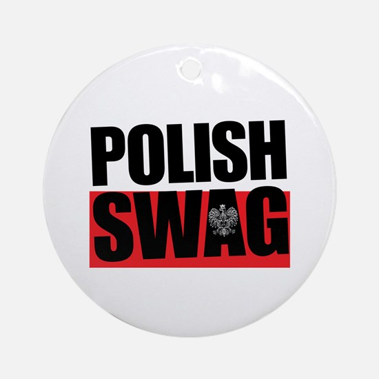 Polish Swag Round Ornament
