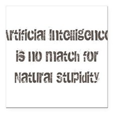 """artiicial intelligence Square Car Magnet 3"""" x 3"""""""