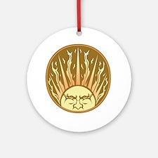 flaming sun Ornament (Round)