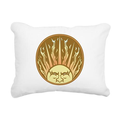 flaming sun Rectangular Canvas Pillow