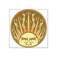 """flaming sun Square Sticker 3"""" x 3"""""""