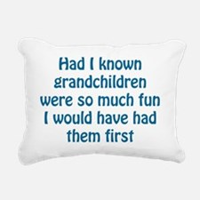 fun grandchildren Rectangular Canvas Pillow