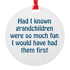 fun grandchildren Ornament