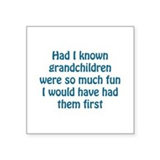 "fun grandchildren Square Sticker 3"" x 3"""