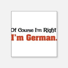"Im German Square Sticker 3"" x 3"""
