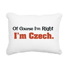 Im Czech Rectangular Canvas Pillow