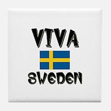 Viva Sweden Tile Coaster