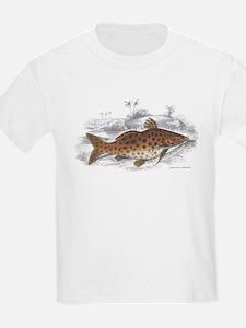 Catfish Fish (Front) Kids T-Shirt