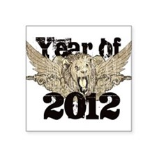 "Year of 2012 Square Sticker 3"" x 3"""