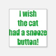 """snooze button Square Sticker 3"""" x 3"""""""