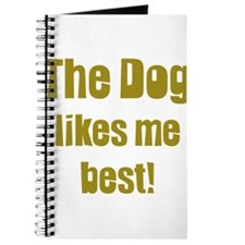 The dog likes me best Journal