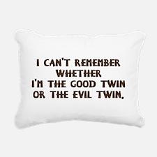Good Twin or Evil Twin? Rectangular Canvas Pillow