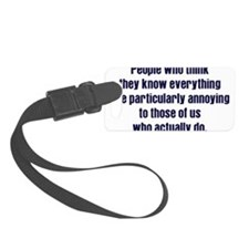 know everything Luggage Tag