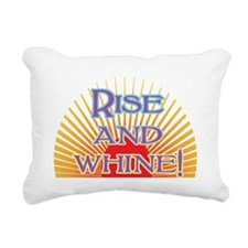 rise and whine Rectangular Canvas Pillow