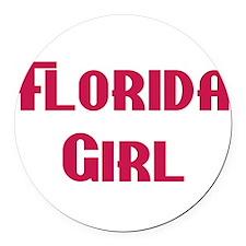 Florida girl Round Car Magnet