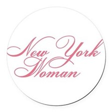 new york woman Round Car Magnet