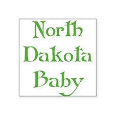 "north dakota baby green Square Sticker 3"" x 3"""