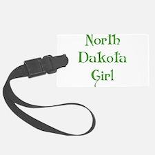 north dakota girl green Luggage Tag