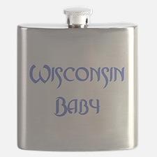 Wisconsin baby blue Flask