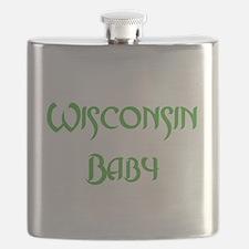 Wisconsin baby green Flask