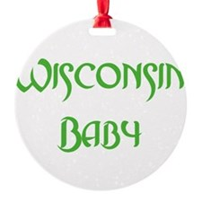Wisconsin baby green Ornament