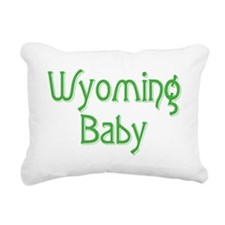 wyoming baby green Rectangular Canvas Pillow