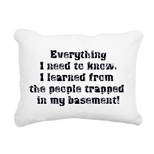 trapped in my basement Rectangular Canvas Pillow