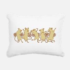 dancing mice Rectangular Canvas Pillow