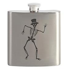 Dancing Skeletons Flask